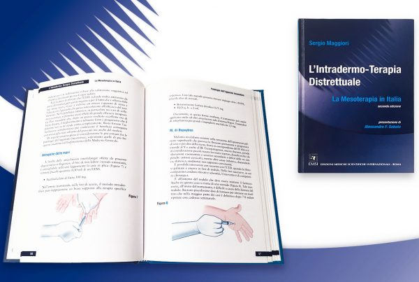 identità aziendale impaginazione libro manuale di mesoterapia