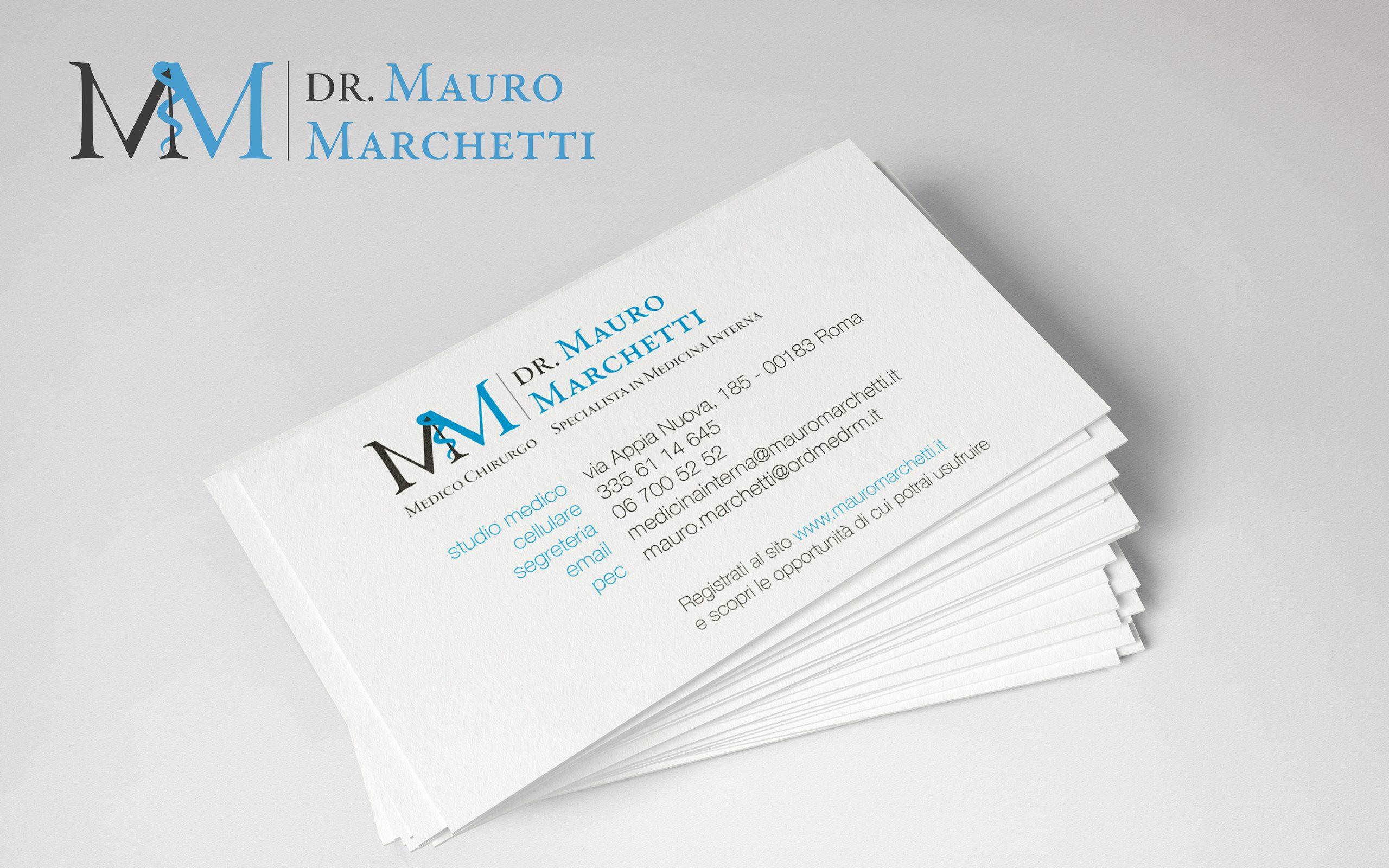 Marchio e biglietto da visita dr. mauro marchetti