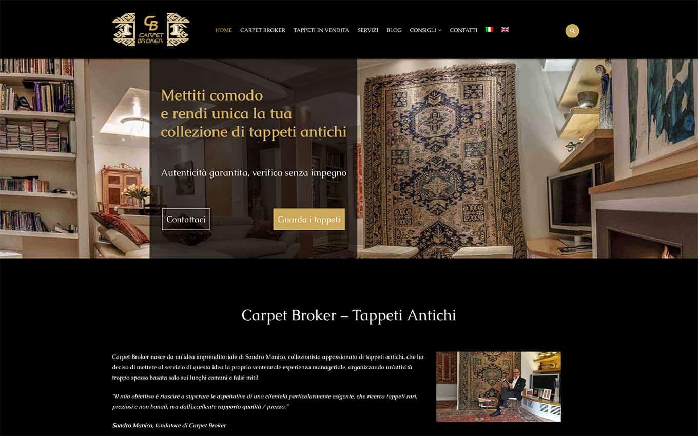 realizzazione sito web carpetbroker