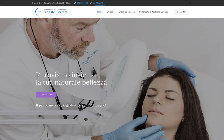 realizzazione sito web dr ernesto ferrara