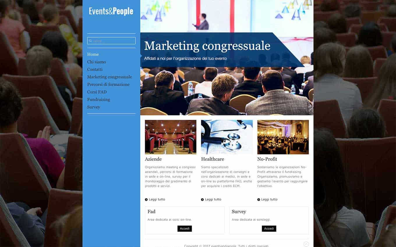 realizzazione sito web events and people