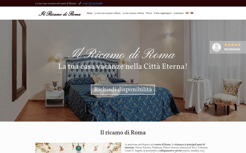 realizzazione sito web il ricamo di roma
