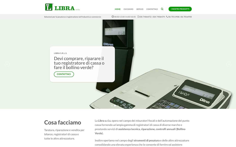 realizzazione sito web libra bilance