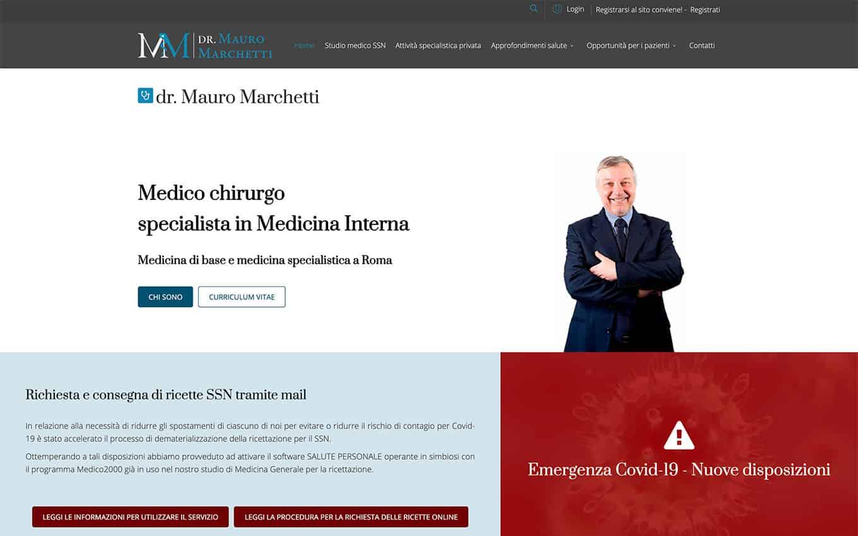 realizzazione sito web dr. mauro marchetti